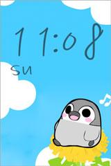 ぺそぎん時計iPhoneアプリ